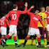 Rafael Da Silva Photos - Wayne Rooney of Manchester United celebrates scoring his side's second gaol with teammate Rafael Da Silva during the FA Cup sponsored by E.On Sixth Round match between Manchester United and Arsenal at Old Trafford on March 12, 2011 in Manchester, England. - Manchester United v Arsenal - FA Cup 6th Round