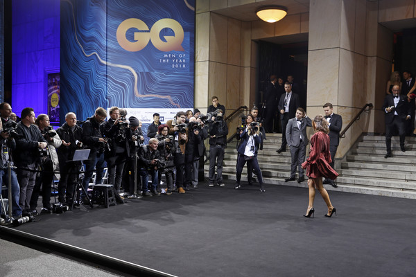 Red Carpet Arrivals - GQ Men Of The Year Award 2018 [red carpet arrivals,komische oper,fashion,event,fashion show,runway,fashion design,footwear,crowd,games,performance,berlin,germany,gq men of the year award,20th gq men of the year award,mandy capristo]