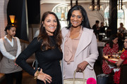 Publisher Lynn Scotti and Nina Whittington Cooper attend the Manhattan Magazine and Morgan Stanley Celebration of Women's History Month at Scarpetta on March 28, 2019 in New York City.