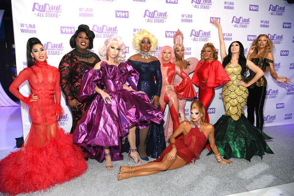 Stars Attend 'RuPaul's Drag Race All Stars Meet The Queens' [rupauls drag race all stars meet the queens,fashion,event,fashion design,pink,dress,fun,performance,dance,magenta,gown,stars,gia gunn,farrah moan,monique heart,trinity taylor,naomi smalls,l-r,mon\u00e3\u00a9t x change,latrice royale]