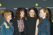 """(L-R) Castmates Sarah Jones, Jodi Balfour, Shantel VanSanten, and Wrenn Schmidt attend the Washington DC premiere of """"For All Mankind"""" at the Smithsonian National Air and Space Museum on October 27, 2019 in Washington, DC."""