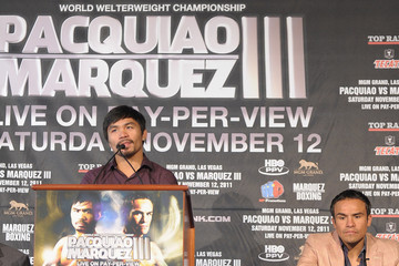 Manny Pacquiao Juan Manuel Marquez Manny Pacquiao And Juan Manuel Marquez Press Conference