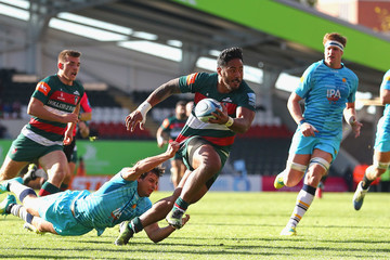 Manu Tuilagi Leicester Tigers v Worcester Warriors - Gallagher Premiership Rugby