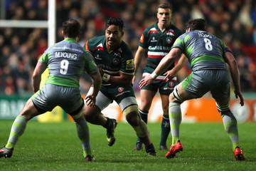 Manu Tuilagi Leicester Tigers Vs. Newcastle Falcons - Aviva Premiership
