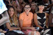 (L-R) Courtney Crangi, Jenna Lyons, and Athena Calderone attend Mara Hoffman Spring 2016 during New York Fashion Week: The Shows at The Gallery, Skylight at Clarkson Sq on September 12, 2015 in New York City.