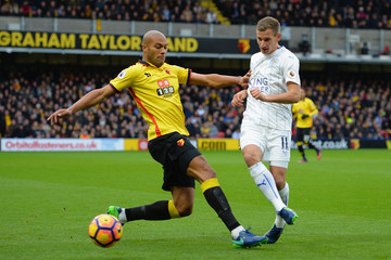 Marc Albrighton Watford v Leicester City - Premier League
