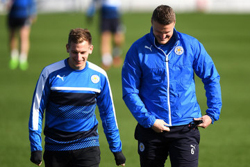 Marc Albrighton Leicester City Training and Press Conference
