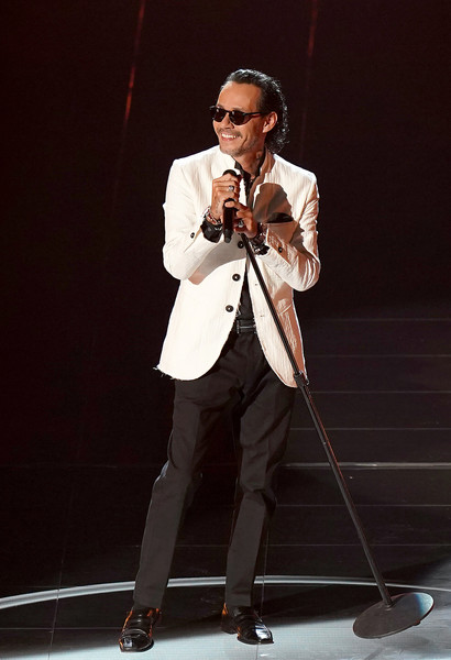 The 21st Annual Latin GRAMMY Awards - Show [image,performance,music artist,microphone,singer,talent show,singing,suit,music,event,formal wear,artist,songwriter,music artist,marc anthony,suit,microphone,performance,latin grammy awards,show,pop music,musician,m,microphone,singer-songwriter,performance art,suit,visual perception,artist,songwriter]