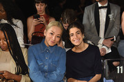 Tina Leung and Leandra Medine  attend the Marc Jacobs Spring 2019 Runway Front Row during New York Fashion Week: The Shows  at Park Avenue Armory on September 12, 2018 in New York City.