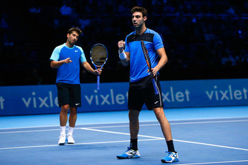 Marcel Granollers Marc Lopez Barclays ATP World Tour Finals: Day 3