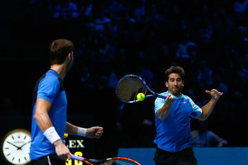 Marcel Granollers Marc Lopez Barclays ATP World Tour Finals: Day 5
