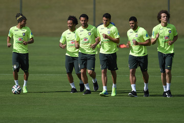 Marcelo Fred Brazil Training Session - 2014 FIFA World Cup