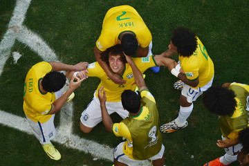 Marcelo Fred Brazil v Chile: Round of 16 - 2014 FIFA World Cup Brazil