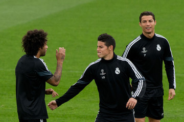 Marcelo James Rodriguez Real Madrid Training
