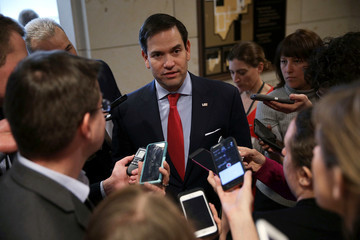 Marco Rubio Lawmakers On Capitol Hill React To President Trump's Airstrikes In Syria