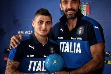 Marco Verratti Italy Training Session And Press Conference