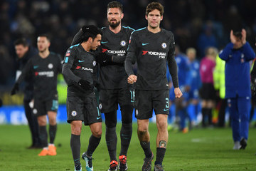 Marcos Alonso Leicester City vs. Chelsea - The Emirates FA Cup Quarter Final