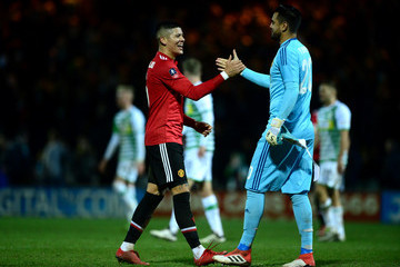 Marcos Rojo Yeovil Town v Manchester United - The Emirates FA Cup Fourth Round