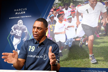 Marcus Allen Media Interviews - 2019 Laureus World Sports Awards - Monaco