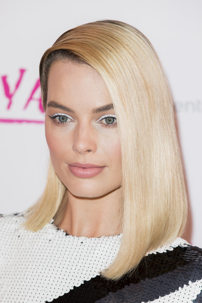 'I, Tonya' UK Premiere - Red Carpet Arrivals [hair,face,blond,hairstyle,eyebrow,lip,hair coloring,chin,long hair,beauty,red carpet arrivals,tonya,margot robbie,uk,england,london,the curzon mayfair,premiere,premiere]