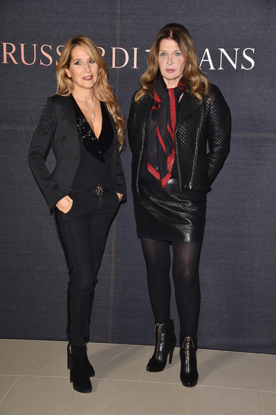 'Trussardi Jeans Celebrates The New IT Bag' Photocall [photocall,clothing,tights,fashion,leggings,leather,footwear,outerwear,event,fashion design,leg,it bag,maria luisa trussardi,jo squillo,photocall,italy,milan,trussardi jeans celebrates,party]