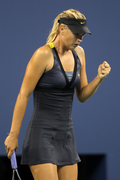 Maria Sharapova Maria Sharapova of Russia celebrates after defeating Anastasiya Yakimova of Belarus during Day Three of the 2011 US Open at the USTA Billie Jean King National Tennis Center on August 31, 2011 in the Flushing neighborhood of the Queens borough of New York City.