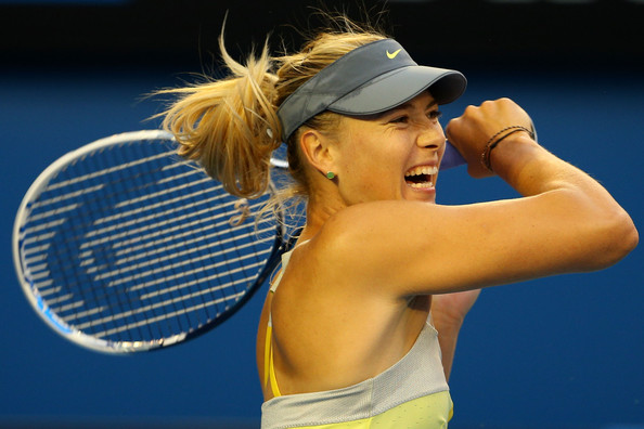 Maria+Sharapova+2013+Australian+Open+Day+5+hUhmaaQvaGPl Semi finals set for Australian Open; Djokovic, Federer, Murray and Ferrer on men's side, Azarenka, Sharapova, Li Na and upset minded Stephens the final women