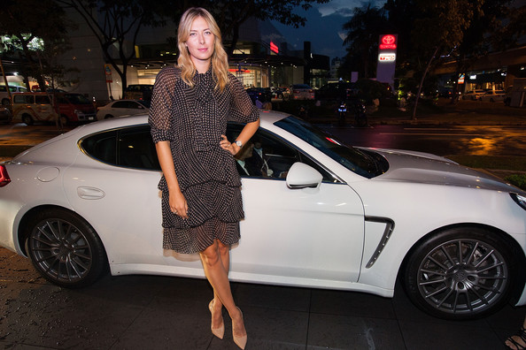 Maria Sharapova - Charity Event with Porsche Asia Pacific In Singapore