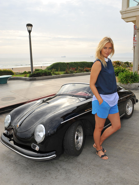 Maria Sharapova - Maria Sharapova Poses for Porsche