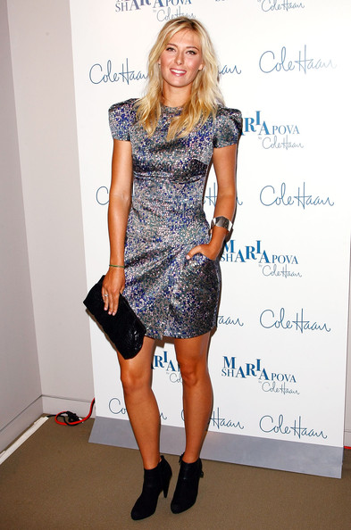 Maria Sharapova attends the unveiling of her collection at Cole Haan Rockefeller Center Store on August 27, 2009 in New York, New York.
