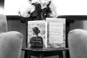 """Image has been shot in black and white. Color version not available.) A view of Maria Shrivers book """"I've Been Thinking"""" at a sit down in conversation with Maria Shriver and Erin Falconer at The Riveter on January 15, 2019 in Los Angeles, California."""