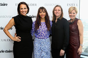 Marie Claire's Editor-in-Chief Anne Fulenwider, Rashida Jones, VP of Original Content, Netflix Cindy Holland and VP, Publisher, Marie Claire Nancy Cardone attend Marie Claire's Second-Annual New Guard Lunch at Hearst Tower on October 30, 2014 in New York City.