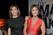 Actress Carrie Brownstein (L) and honoree Jenn Streicher attend the inaugural Image Maker Awards hosted by Marie Claire at Chateau Marmont on January 12, 2016 in Los Angeles, California.