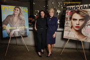 Julie Bishop and Nicky Briger attend the Marie Claire & InStyle luncheon in honour of the Ovarian Cancer Research Foundation on August 08, 2019 in Sydney, Australia.