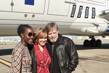 Marilou York The Cast of 'Star Wars: The Force Awakens' on ANA Charter Flight from Los Angeles to the London Premiere