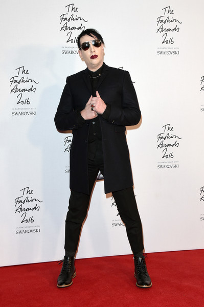 Marilyn Manson Photos The Fashion Awards 2016 Winners Room 180