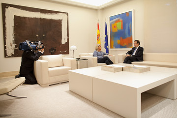 Marimar Blanco Mariano Rajoy Meets with Victims of Terrorism