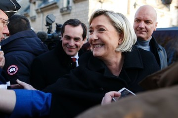 Marine Le Pen French Far-Right Political Party National Front (FN) Leader Marine Le Pen's Visits Normandy