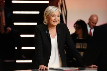 Marine Le Pen French Presidential Candidates Face Off in First TV Debate