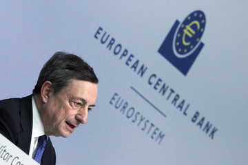 Mario Draghi ECB President Mario Draghi Says the European Central Bank Raised Its Eurozone Economic Growth Forecasts for This Year and Next