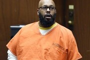"""Marion """"Suge"""" Knight appears for a hearing at the Clara Shortridge Foltz Criminal Justice Center March 9, 2015 in Los Angeles, California.  The hearing was scheduled to determine if the two criminal cases against Knight, one for murder and attempted murder when Knight allegedly ran over two men in a Compton parking lot after an argument and another case involving an alleged robbery and criminal threats to a photographer in Beverly Hills, should be moved to the downtown Los Angeles courthouse."""