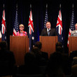 Marise Payne Pompeo And Mattis Hold Joint Press Availability With Australian Counterparts