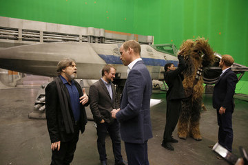 Mark Hamill The Duke of Cambridge and Prince Harry Visit The 'Star Wars' Film Set