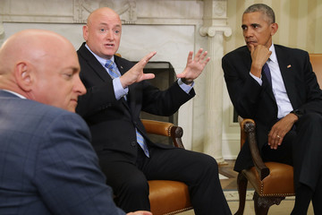 Mark Kelly President Obama Meets With NASA Astronaut Scott Kelly in the Oval Office