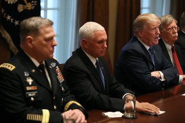 Mark Milley President Trump Gets Briefed By Senior Military Leadership At White House