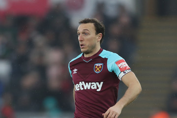 Mark Noble Swansea City vs. West Ham United - Premier League