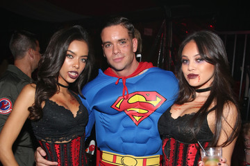 Mark Salling Playboy and Hugh Hefner Host Annual Halloween Party at the Playboy Mansion