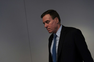 Mark Warner Senate Intelligence Committee Holds Closed Hearing With Former Intel Chiefs On Russian Activities In Elections
