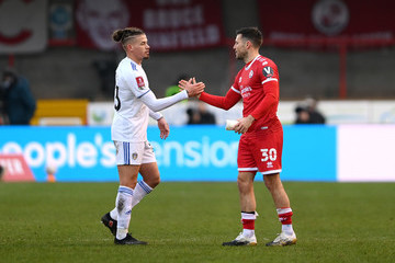 Mark Wright Kalvin Phillips Crawley Town v Leeds United - FA Cup Third Round