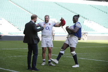 Maro Itoje Prince Harry Attends England Rugby Team Open Training Session